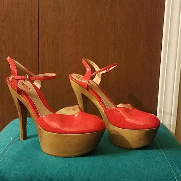 9437c657509 Vintage Gucci orange/red platform heels size 40